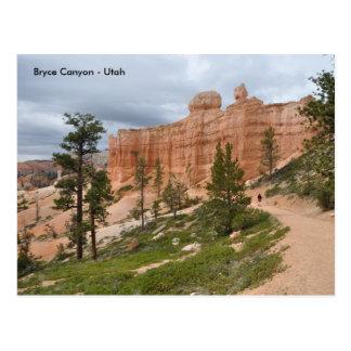 Rastro del parque nacional del barranco de Bryce - Postal