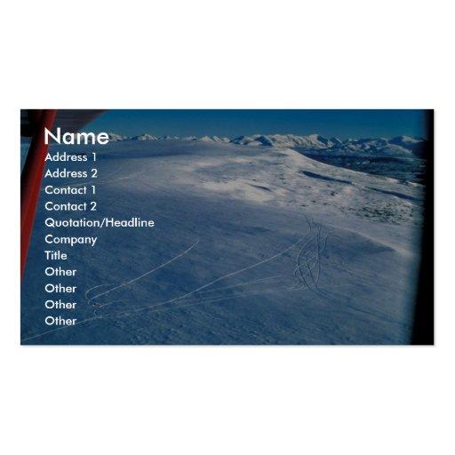Rastros de las colinas de la perdiz nival en invie tarjeta personal