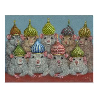 Rata en postal de los gorras de la bóveda de la