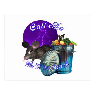 Rata púrpura de la luna postal