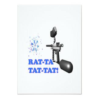 Rata TA Tat Tat Invitación 12,7 X 17,8 Cm