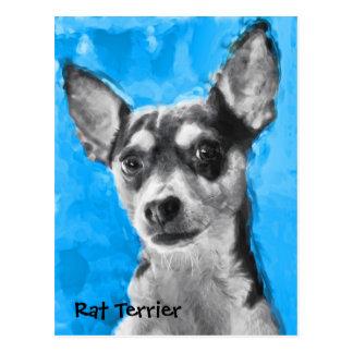 Rata Terrier, arte moderno del perro, postal