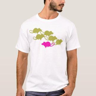 Ratas en rosa y verde camiseta