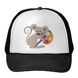 ratón con el pintura-artista gorra