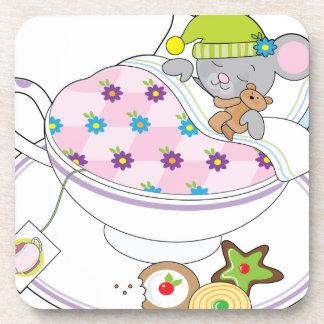 Ratón de la taza de té posavaso