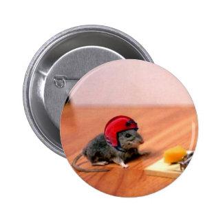 Ratón del boy scout chapa redonda de 5 cm