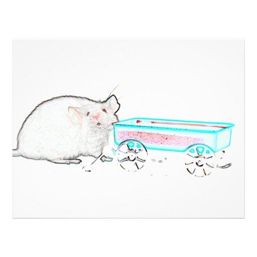 ratón del esquema con los ratones lindos del carro tarjetones
