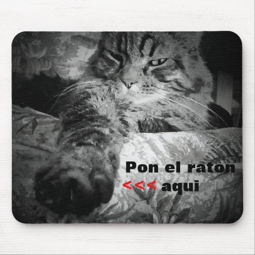 Raton del gato y del EL Alfombrillas De Raton
