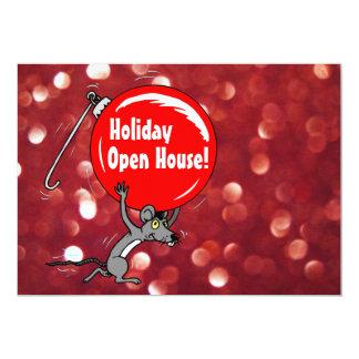Ratón del navidad de la casa abierta del día de invitación 12,7 x 17,8 cm