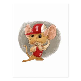 ratón del niño que escucha postal