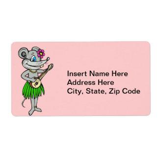 Ratón hawaiano de Hula Etiqueta De Envío
