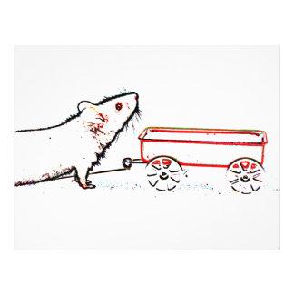 ratón que levanta encima de esquema con el carro tarjetones