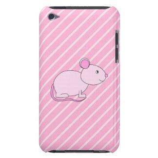 Ratón rosado lindo Case-Mate iPod touch protectores