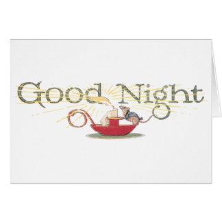 Ratón y vela de las buenas noches tarjetas
