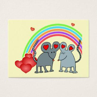 Ratones en tarjetas de los niños de las tarjetas