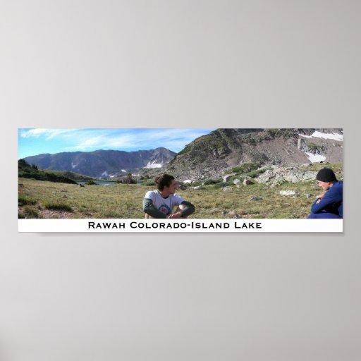 Rawah Colorado, lago island Impresiones
