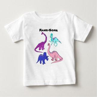 """""""Rawr-Alguna"""" camiseta del dinosaurio del chica"""