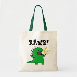 ¡RAWR Dino - personalizable! Bolsa Tela Barata