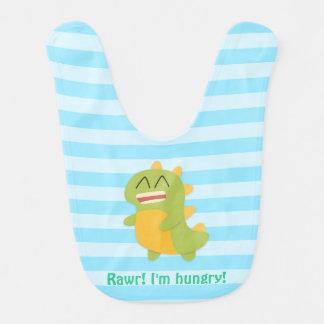 ¡Rawr! Dinosaurio lindo divertido para el bebé Babero