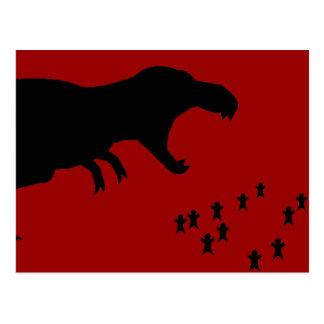 ¡Rawr! T-Rex Postales