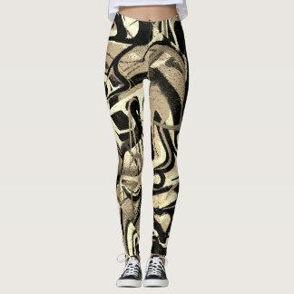 Raya abstracta del tigre de la pintada leggings