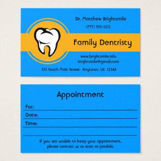 Raya amarilla de oro intrépida del diente blanco tarjeta de visita