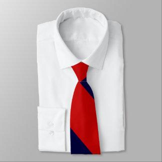 Raya amplia roja y azul de la universidad corbata personalizada