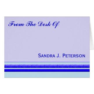 Raya azul brillante en negocio profesional en tarjeta pequeña