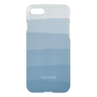 Raya azul de la pendiente del tinte de la funda para iPhone 7
