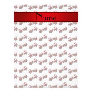 Raya blanca conocida personalizada del rojo de los folleto 21,6 x 28 cm