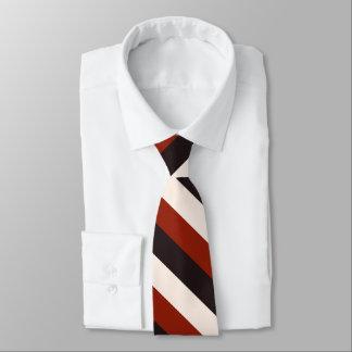 Raya blanca negra roja casual del poder corbatas personalizadas