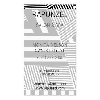 Raya blanco y negro clásica tarjetas de visita