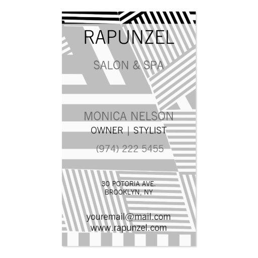 Raya blanco y negro clásica tarjeta de visita