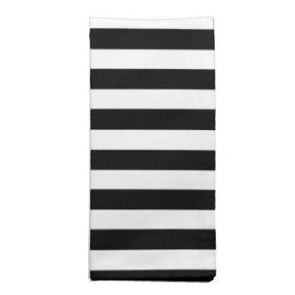 Raya blanco y negro de la cabaña servilleta de papel