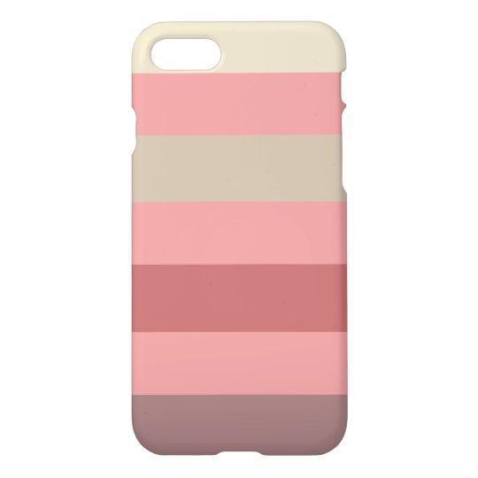 Raya color de rosa caliente funda para iPhone 7