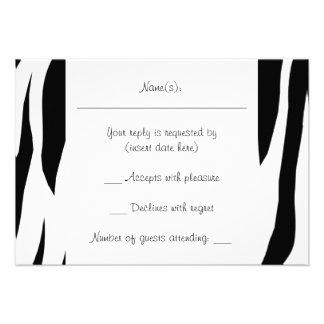 Raya de la cebra invitación personalizada