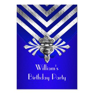 Raya de la plata de la fiesta de cumpleaños del invitación 12,7 x 17,8 cm