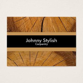 Raya de madera del negocio del carpintero tarjeta de visita