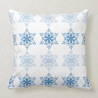Raya del copo de nieve cojín decorativo