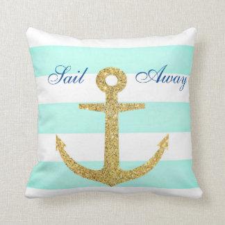 Raya del mar y almohada de tiro de cristal del