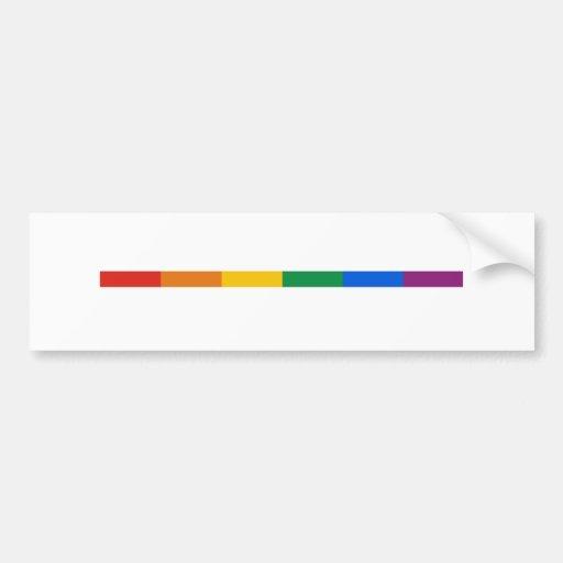 Raya del orgullo gay etiqueta de parachoque