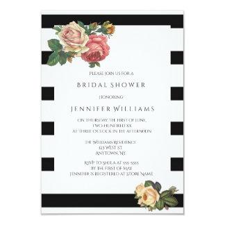 Raya floral que casa invitaciones nupciales de la invitación 8,9 x 12,7 cm