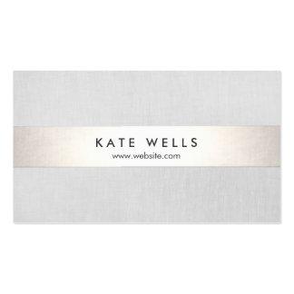 Raya gris y de plata moderna simple (ningún tarjetas de visita