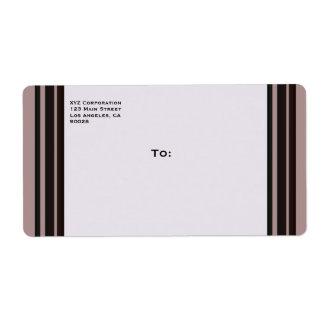 raya negra en negocio púrpura etiqueta de envío