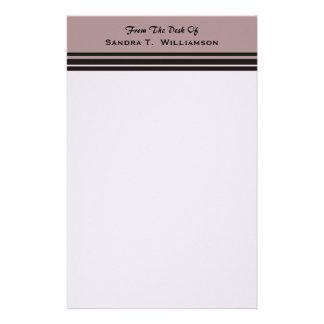 raya negra en negocio púrpura papeleria personalizada