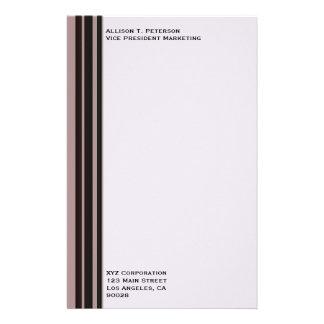 raya negra en negocio púrpura papelería de diseño