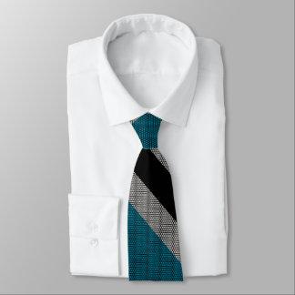 Raya negra y azul corbata