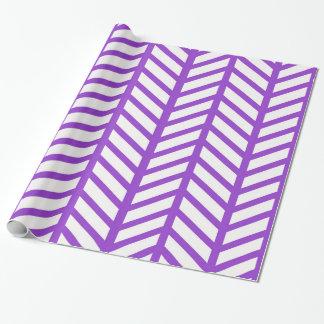 Raya púrpura del enrejado papel de regalo
