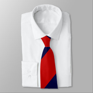 Raya regimental amplia roja y azul corbata personalizada