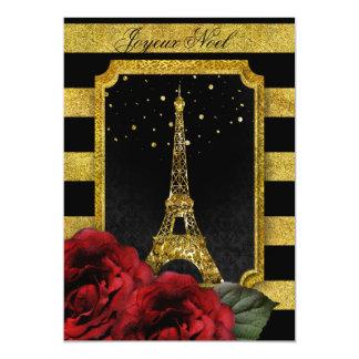 Raya subió París del oro de la torre Eiffel del Invitación 12,7 X 17,8 Cm
